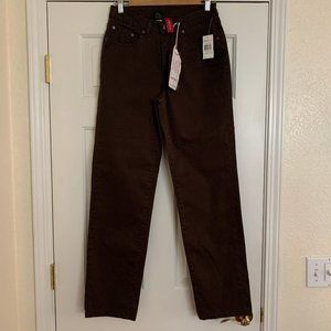 New JAG Brown Jeans Sydney Stretch Straight Leg 8